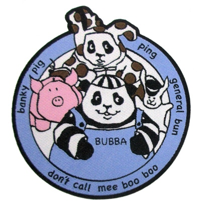 Bubba and his friends! Hands off Banky Pig, Pinky! These patches are only available through the sets listed in the reward section. No more Bubba & Friends patches are available as add ons.