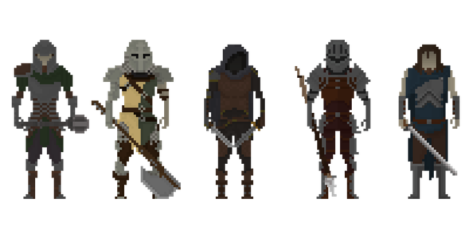 Some armors and weapons you may find in the demo or later in the game