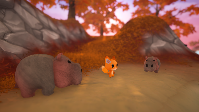 The re-textured hippos <3
