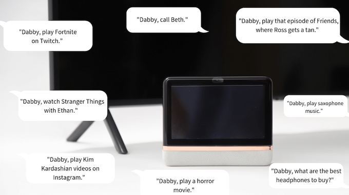 Dabby: All-in-one entertainment device  Make your TV smarter