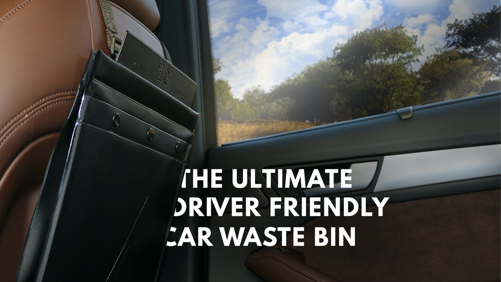 The Ultimate Driver Friendly Car Waste Bin