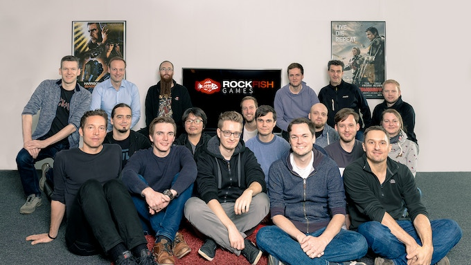 Meet our friendly team! Of course, there are way more peolple involved in the project like several long-term freelancers from Germany as well as devs and artists in external development all around the globe.