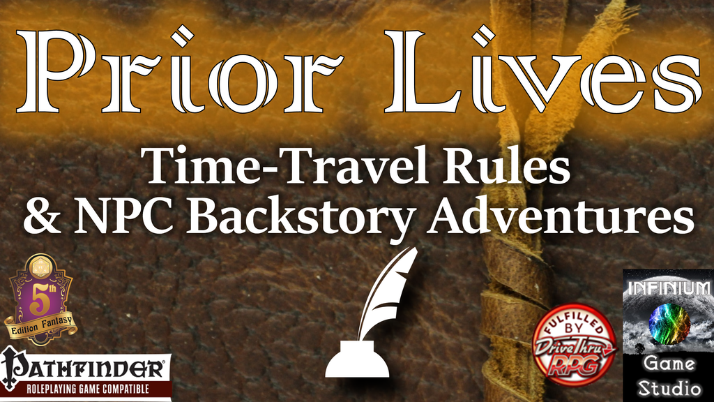 Project image for Prior Lives: Time-Travel NPC Past Adventures (Pathfinder/5E)