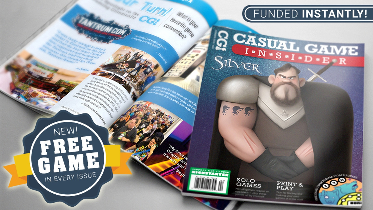 Top quality casual board game magazine, featuring the best new games and the people who create them. FREE GAME in every issue!