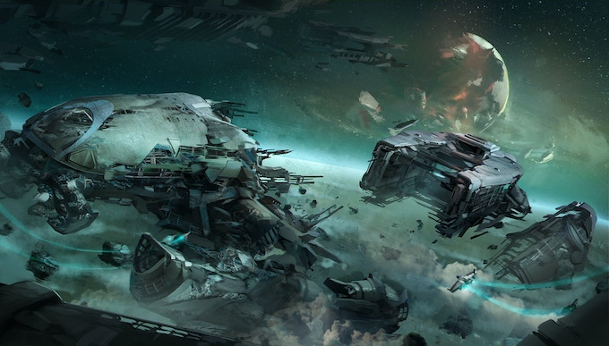 A battleship graveyard - full of hidden treasures or just the perfect place to be ambushed by outlaws?