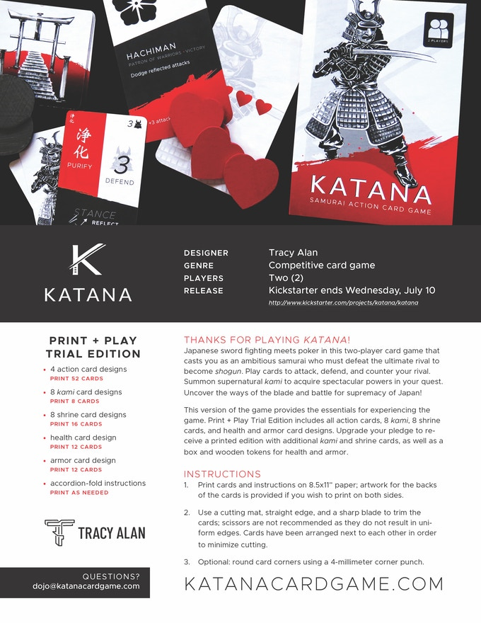 Katana—Print-and-Play Trial (password required for printing)
