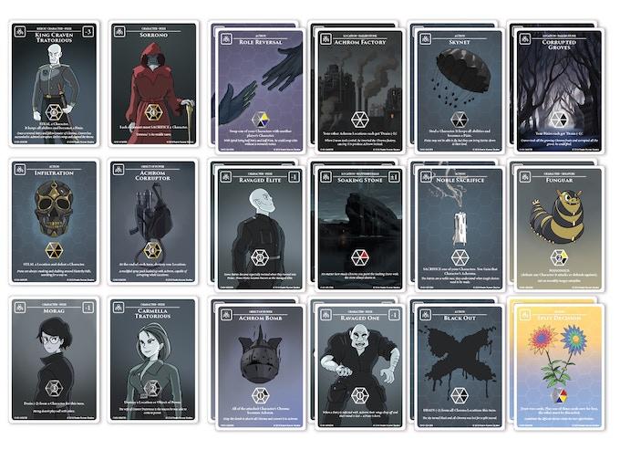 30 card Starter Achrom Palette: Fallen Stone Pixies
