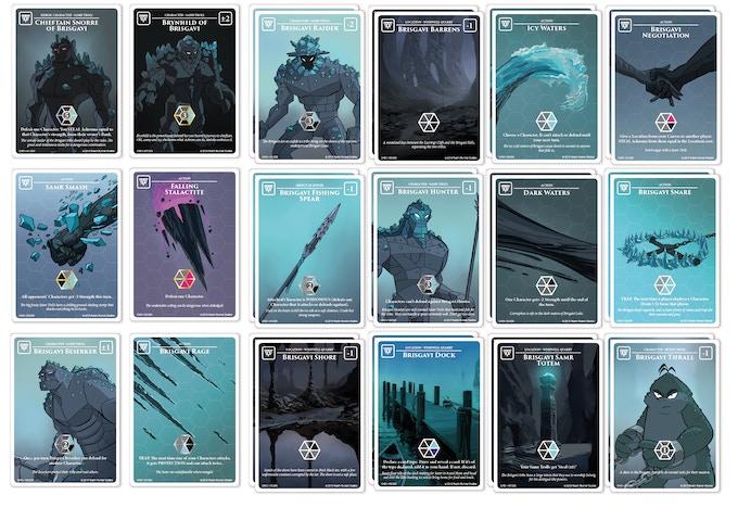 30 card Starter Achrom Palette: Brisgavi Samr Trolls