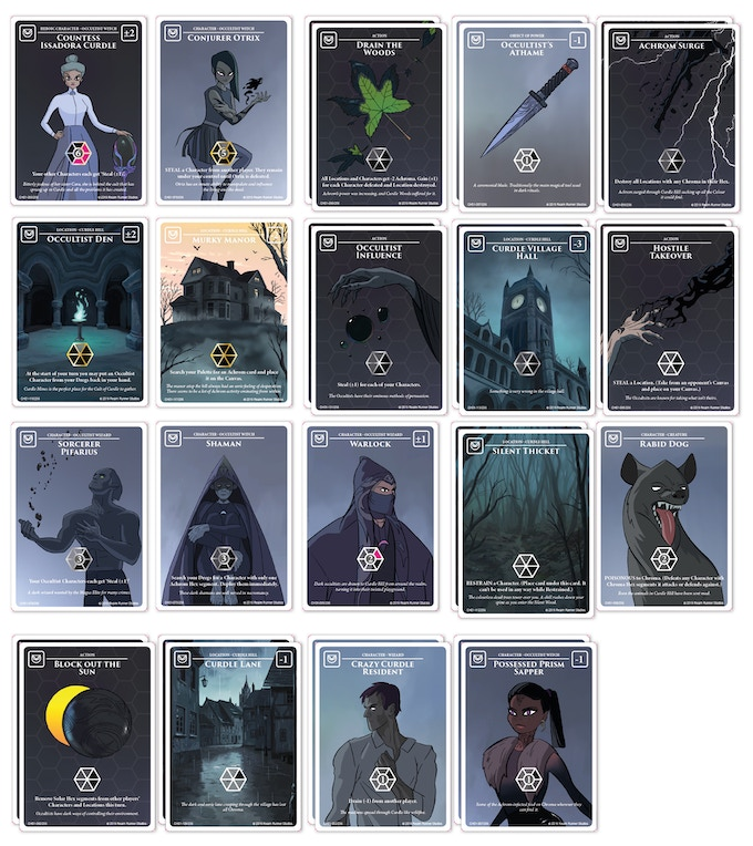 30 card Starter Achrom Palette: Curdle Hill Occultists