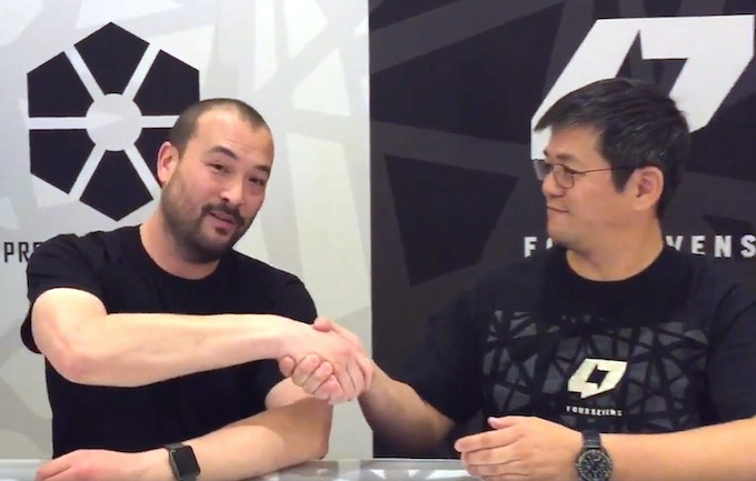 Passing the torch (left: Jason Hui)(right: David Chow)