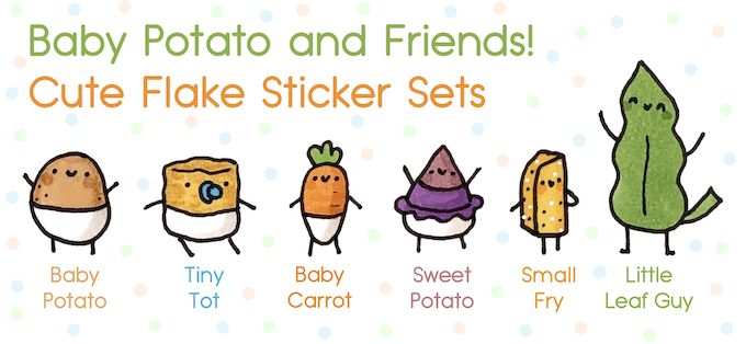 May I introduce you to Baby Potato's little friends? ^-^