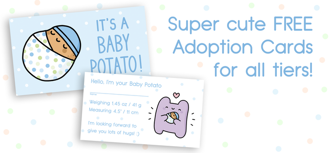Cute Adoption Cards to properly name your little spud ;)