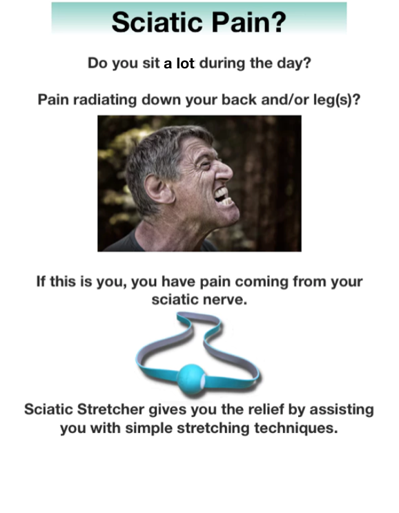 Sciatic Stretcher—Relief, Aid, Comfort