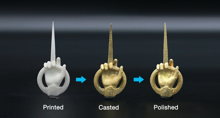 Comparison of the printed, the casted, and the polished #2