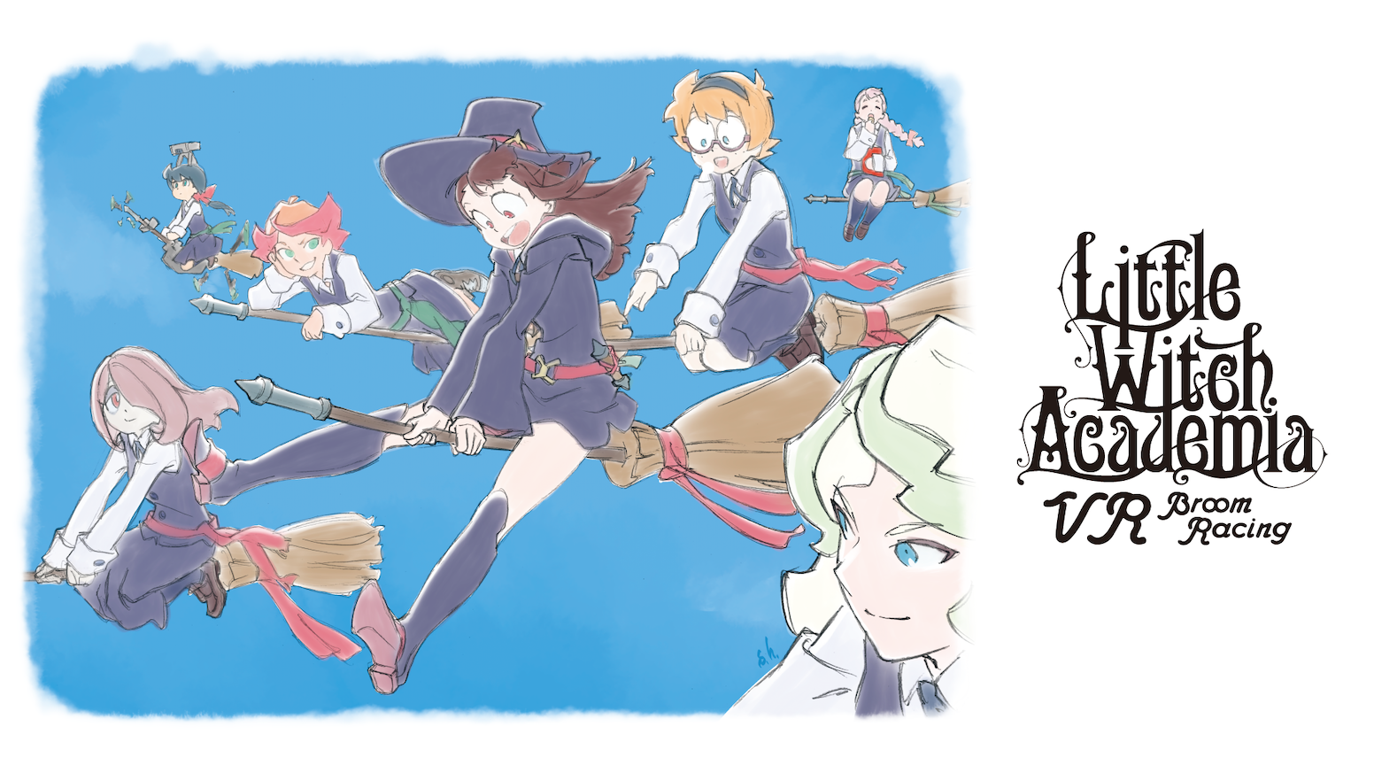 TRIGGER's Little Witch Academia will be coming as a VR broom racing game in which you can fly around the sky with Akko and her friends!
