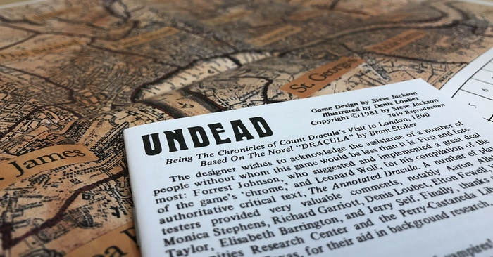 2019 reproduction line added to the Undead rulebook.