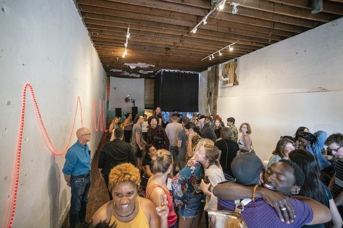 Amazing turnout for the 2018 Performance Showcase with Randy Ford, David Rue, and the Intiman Theatre Emerging Artists Program. Photography: Cameron Fletcher.