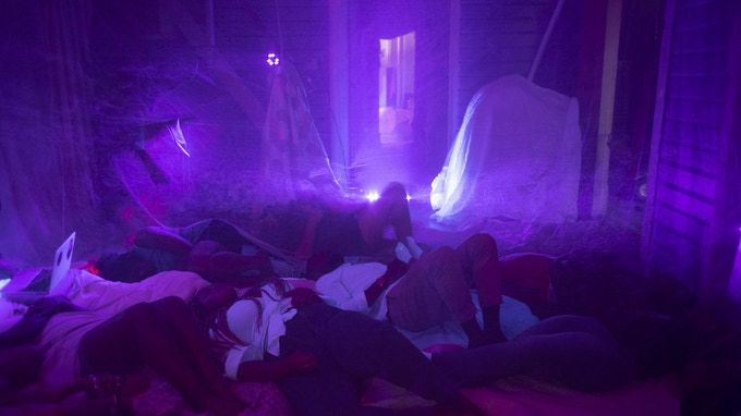 """Mia Harrison created a sanctuary for Black healing in a sea of whiteness and we are grateful for her involvement in festival.festival 2018. Her installation """"[REM]ember"""" was hosted at The Cockpit in Capitol Hill. Photography: Cameron Fletcher."""