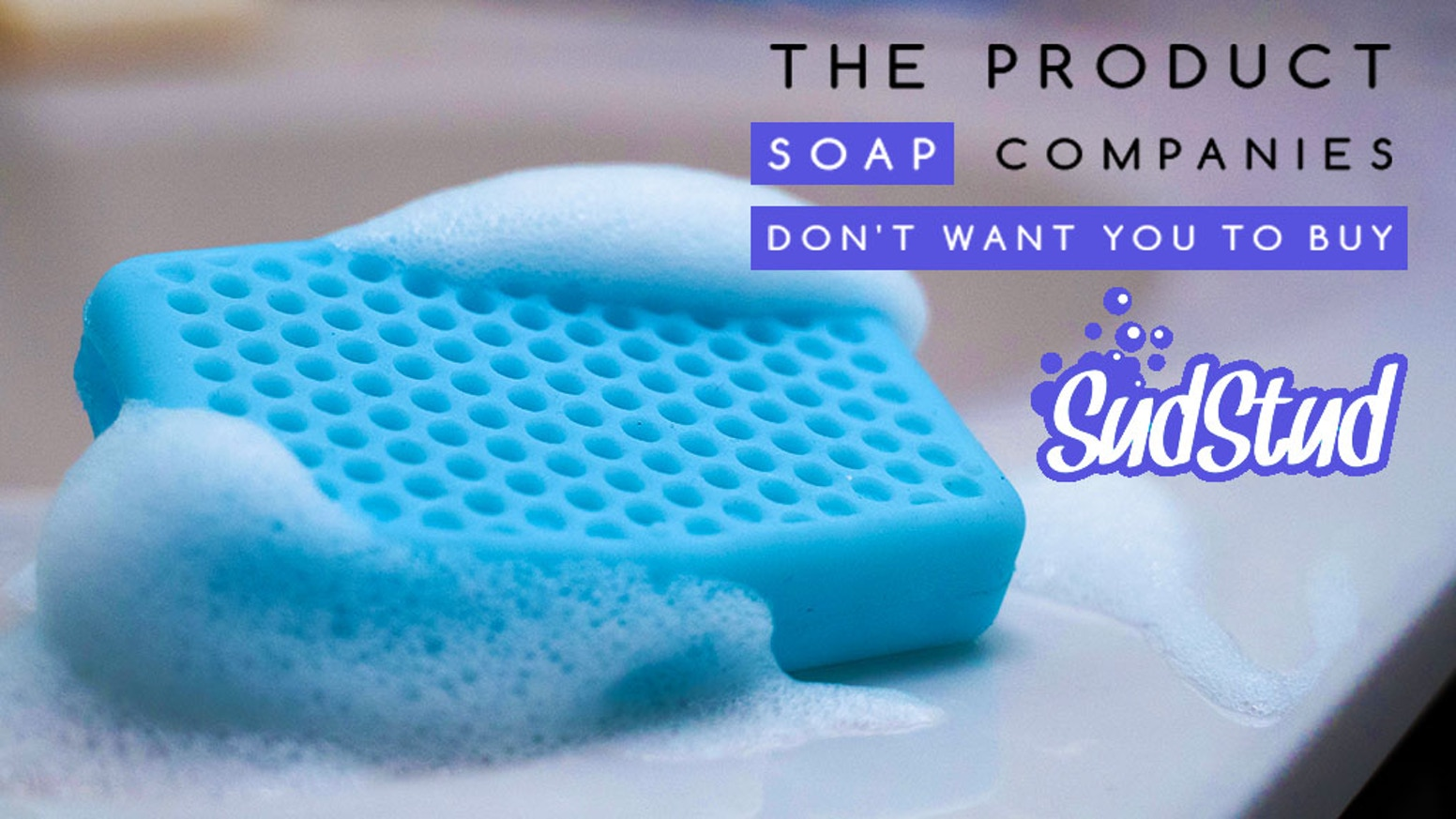 An alternative to notoriously filthy shower loofahs that saves money, cleans deeper and eliminates bathroom bacteria breeding grounds.