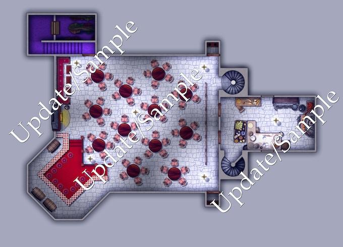 main floor, night