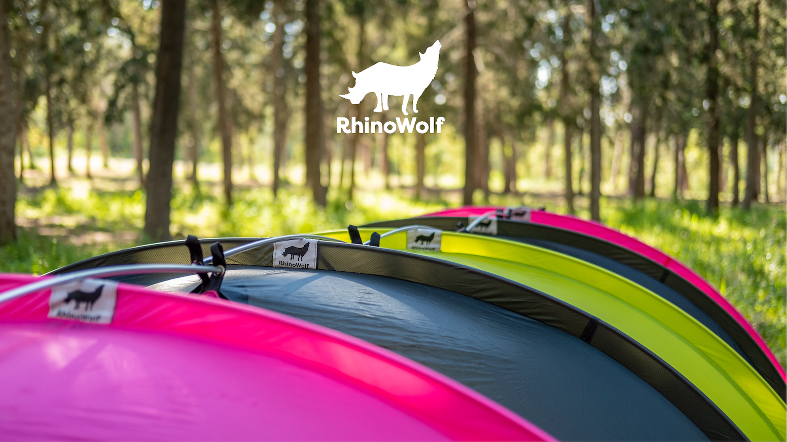 Forget tents. RhinoWolf has a built-in mattress and sleeping bag and connects to other RhinoWolfs.