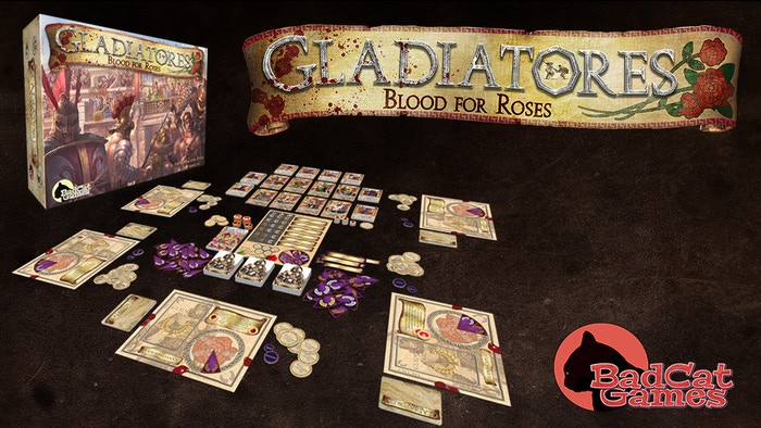 Play as the greatest gladiators in history! Fight deadly duels and lead your gladiator school to victory in this 2-5 player card game