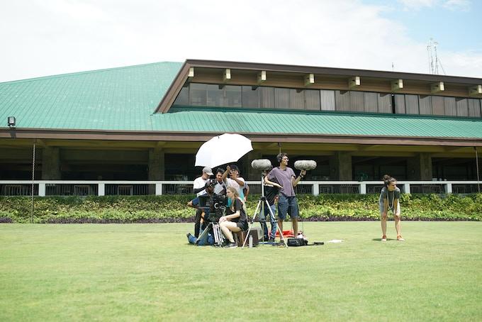 BTS photo of Filipiñana crew at the Alabang Country Club