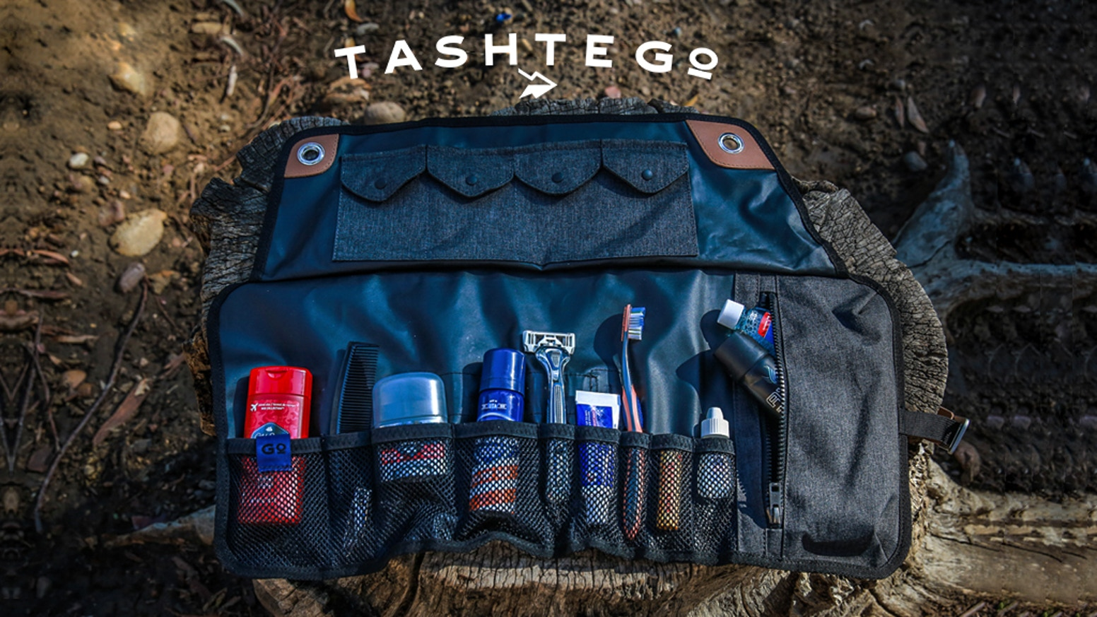 Redesigned to be stretchier, waterproof, and easier to use - Kickstarter's most loved toiletries travel roll is back and even better!