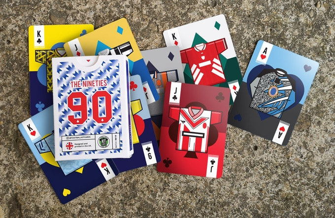 90s Football Shirts Playing Cards - test pack