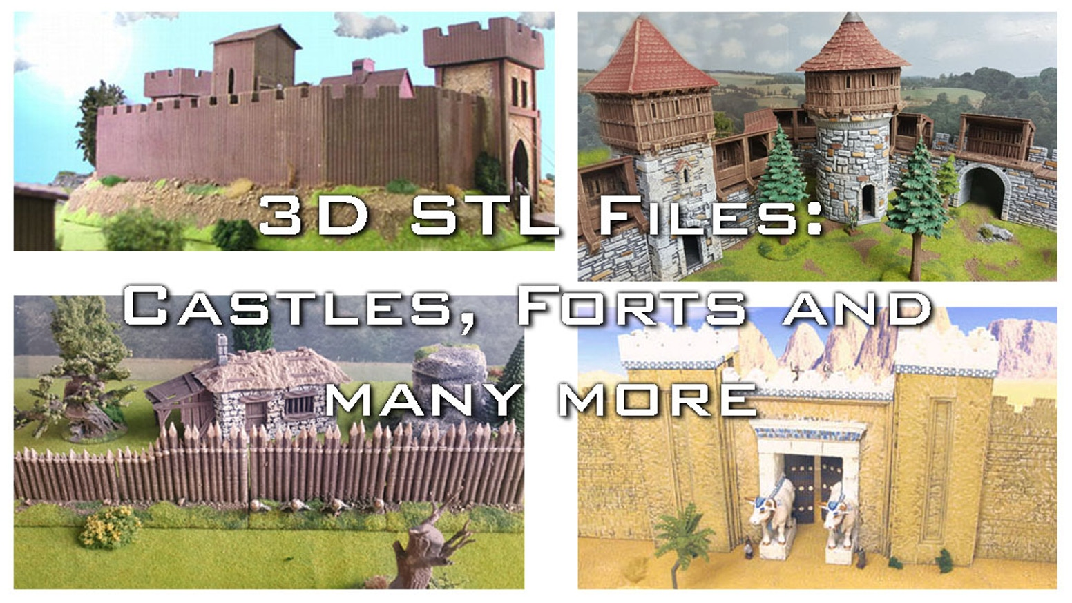 dark age, fantasy and medieval castle and forts parts for your 3D home printer