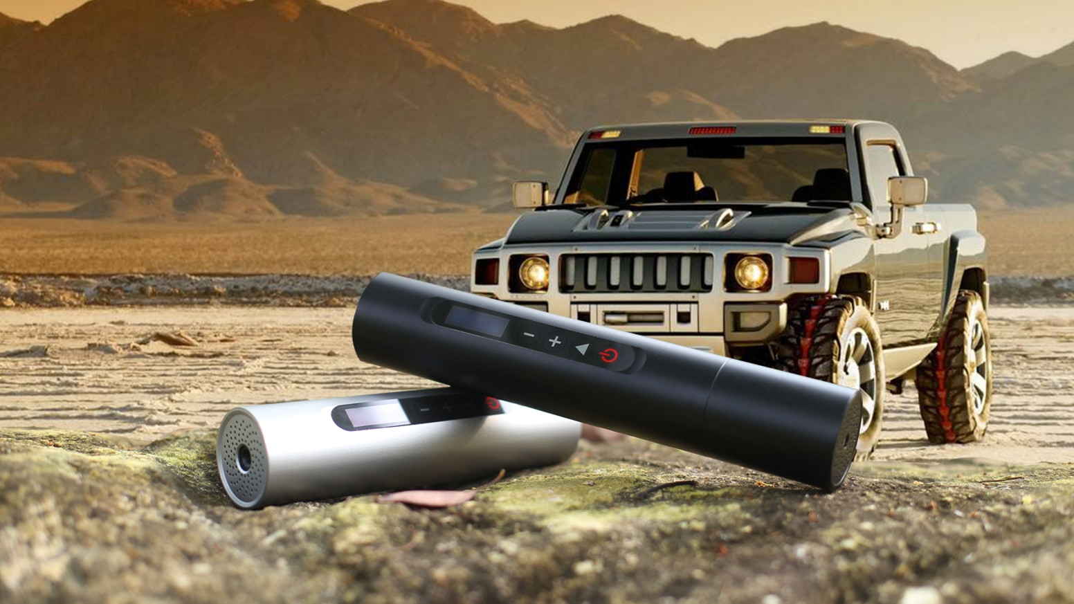 World's smallest and most portable tire inflator / air compressor.