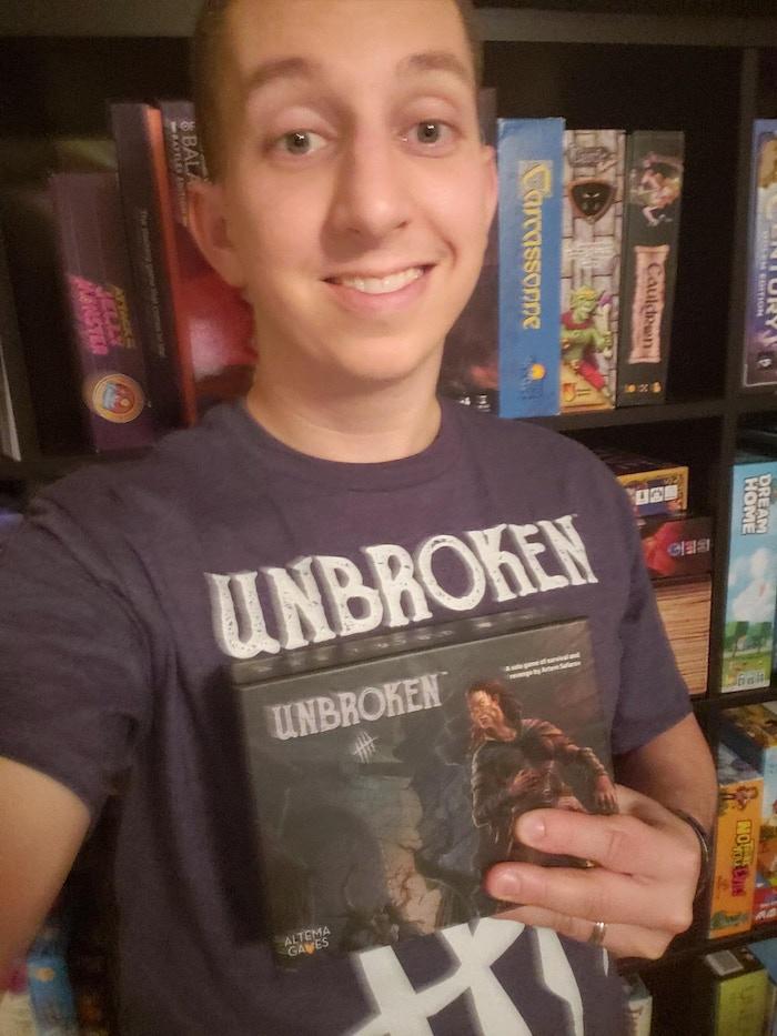 Aaron Vidal rocks all the Unbroken swag!
