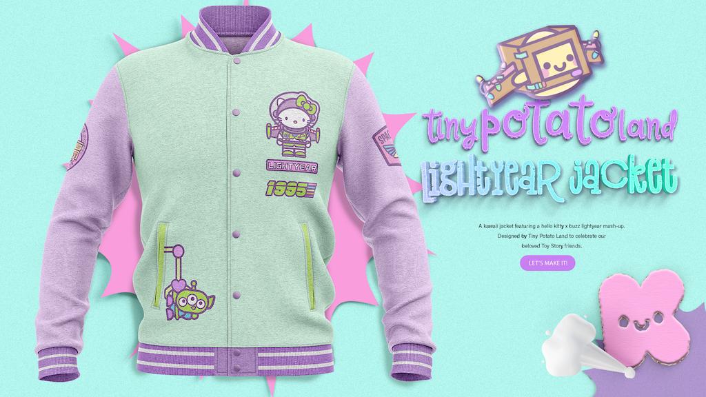 6e71bb682 Hello Kitty x Buzz Lightyear Varsity Jacket by Tiny Potato Land ...