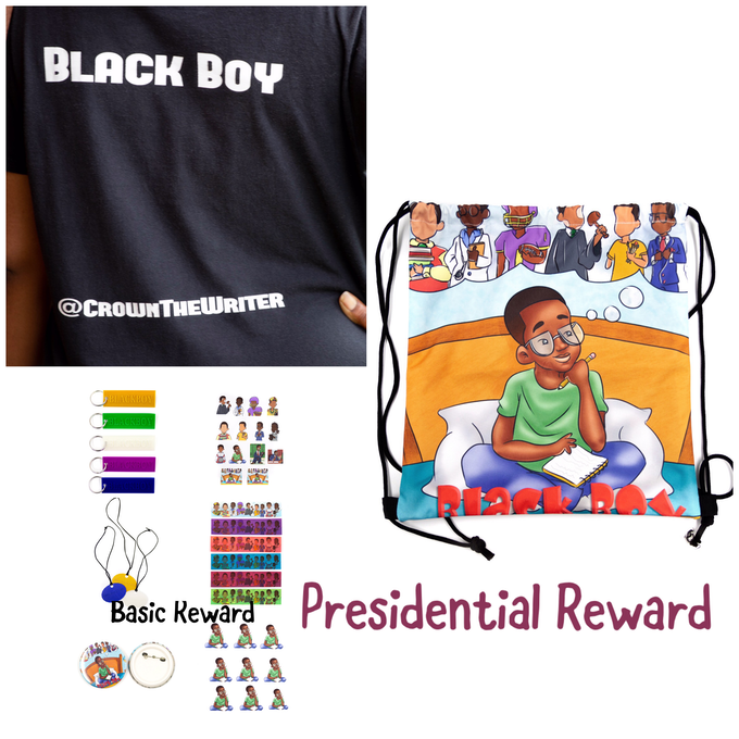 Presidential Reward Package:The basic reward package, receive a backpack and a t-shirt of your choice.