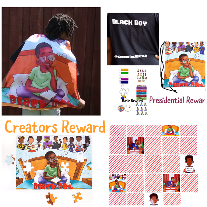 The Creators Package: The Basic Reward, The Presidential, The superhero, Puzzle and Memory game