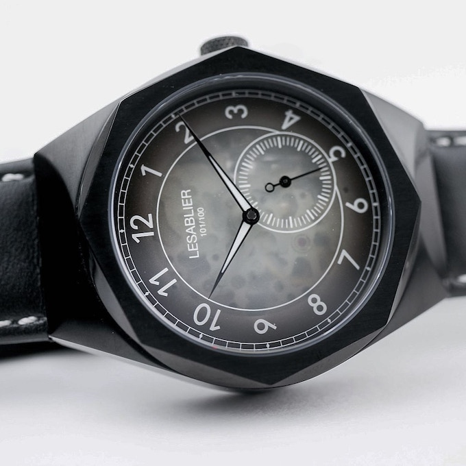 """Nightfall"" features an Ion-Plated black case and hands along with our ""Ghost"" dial."