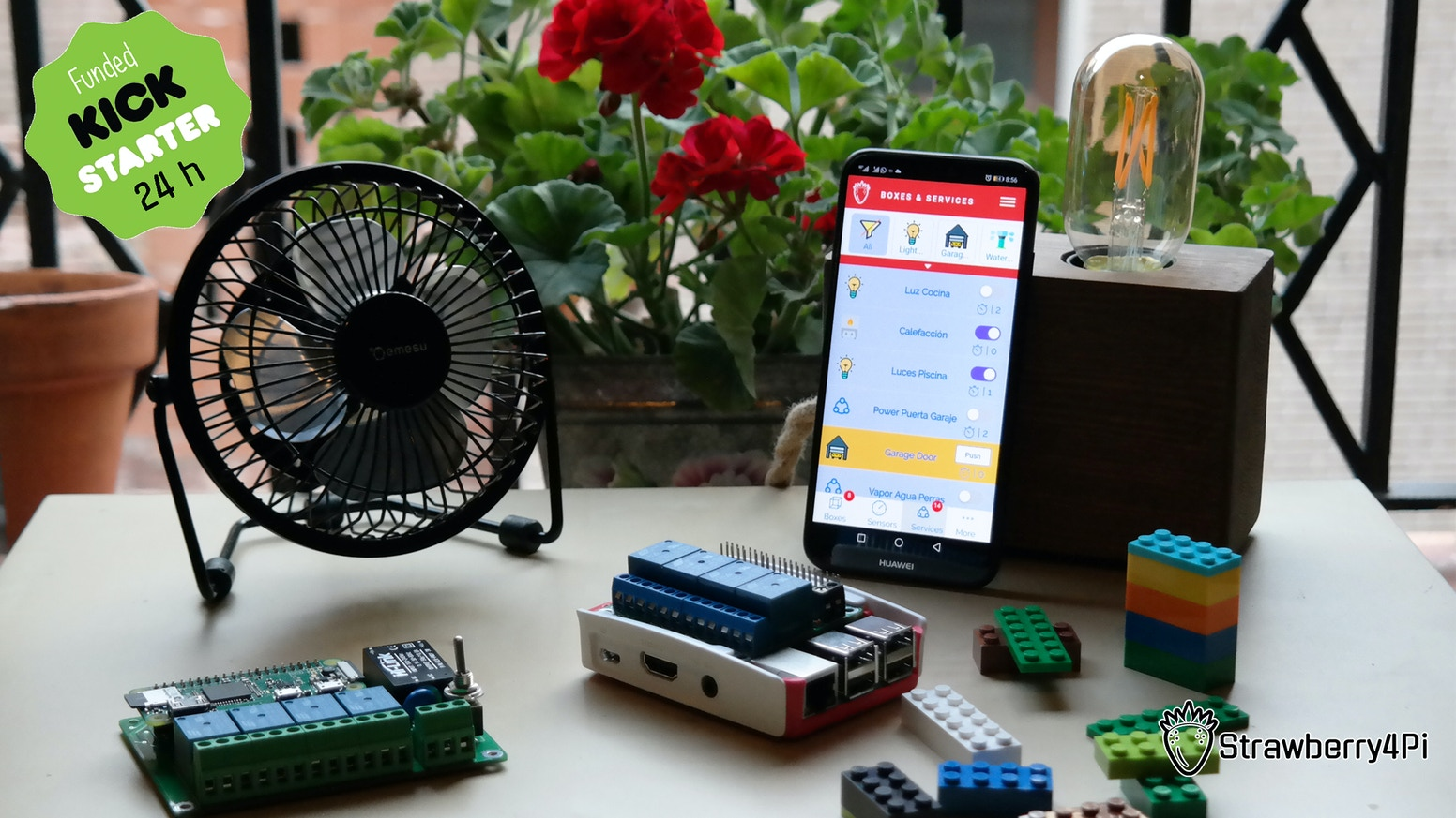 An IoT solution for Raspberry Pi. Plug S4Pi on your Raspberry Pi and control the projects from your Smartpohone in a few minutes.