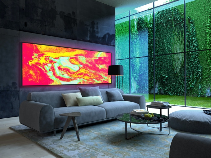 Design presented in a simulated environment.