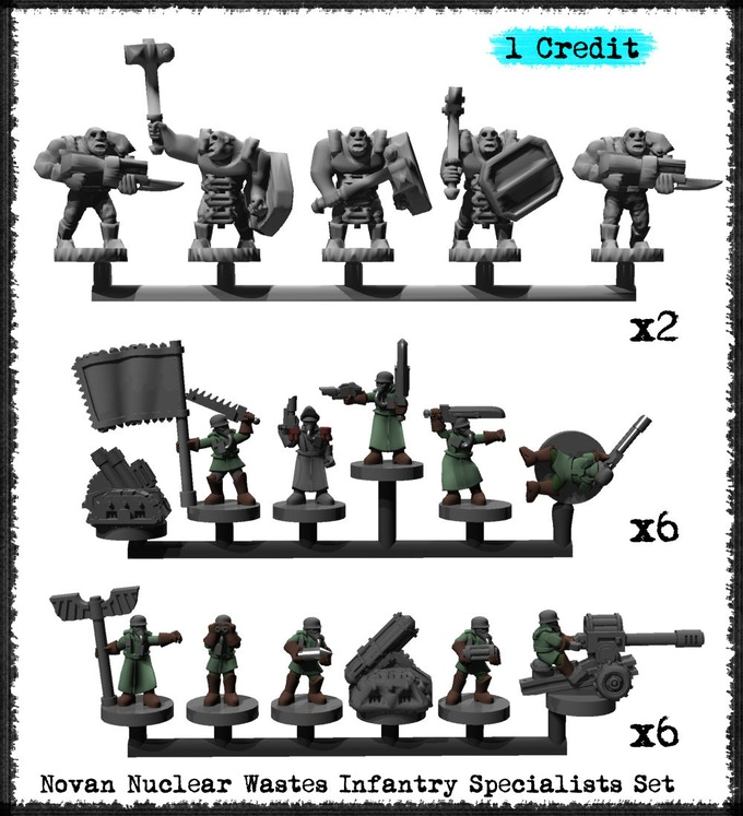 Novan Nuclear Wastes Infantry Specialists Set - Metal