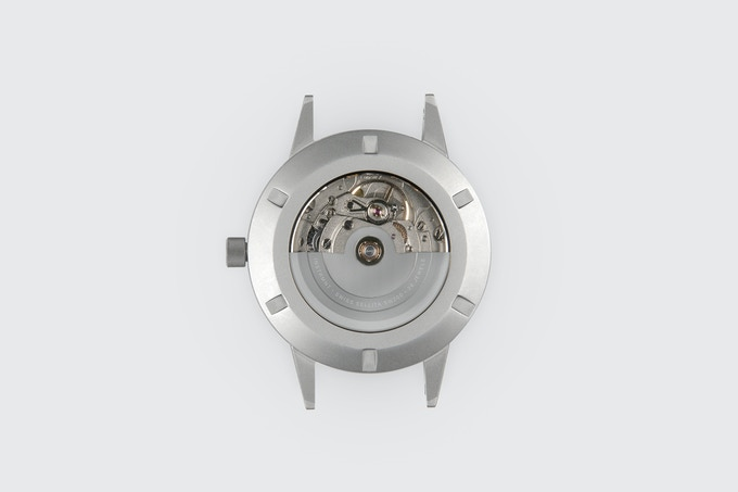 Our fully bespoke SW200 movement rotor.