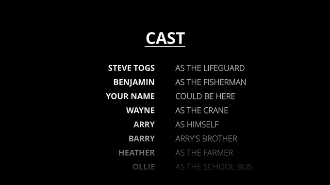 Have your Name in the Credits
