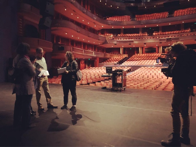 Nanne Sørvold films Jennifer Weir and staff members of the Ordway Theater as they prepare for the February 2020 performance of HERbeat.