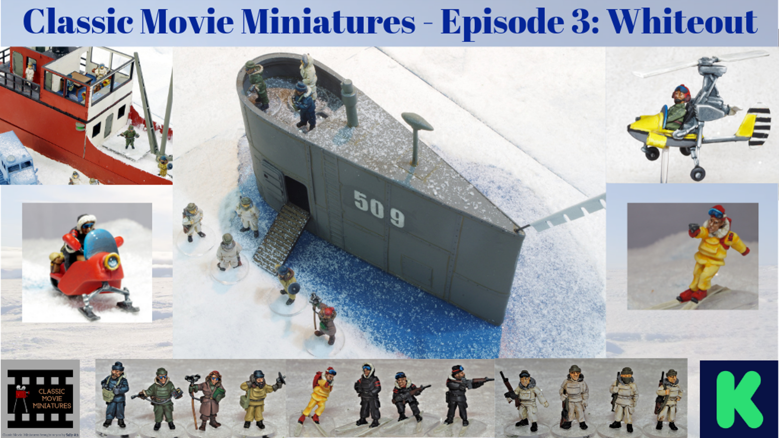 28mm pulp / spy-fi miniatures inspired by classic movies set in cold places.