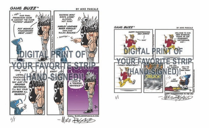 What's your favorite BUZZ strip? Have it signed and printed!