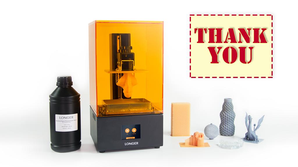 Longer: Reliable & Most Affordable Desktop SLA 3D Printer project video thumbnail