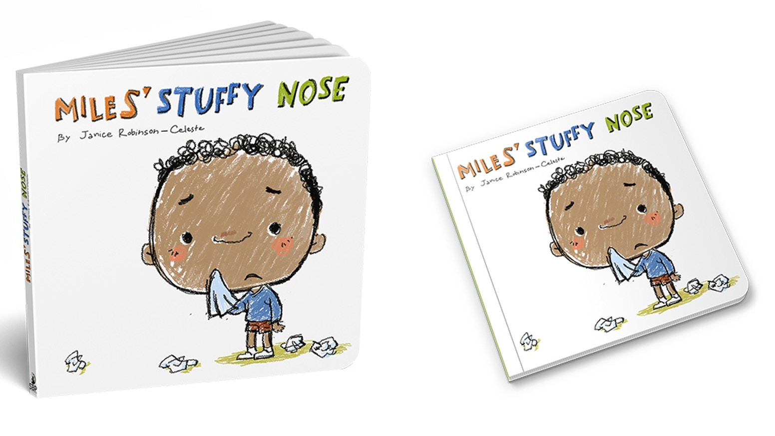 This toddler board book helps toddlers learn how to blow their nose in imaginative ways.