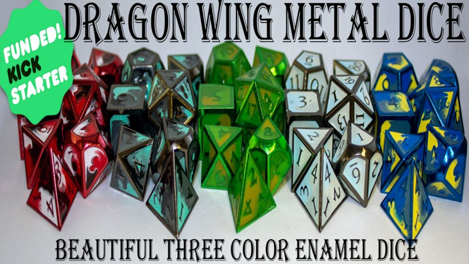 Metal Roleplaying Dice for Tabletop games.