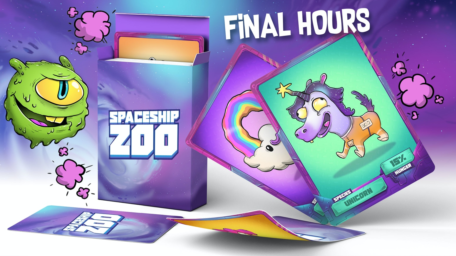 It's an alien-eats-alien card game... Will your creatures come out on top?