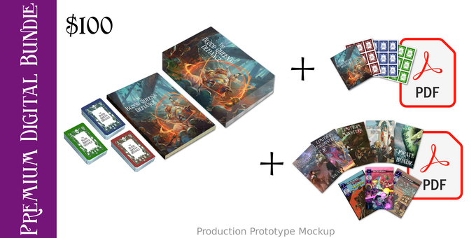 $100 Premium Box Set + Digital Bundle + Print & Play PDFs option