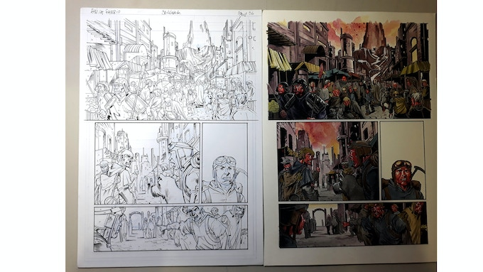 Original Artwork Pages (pencil/ink & acrylic) by Áthila Fabbio